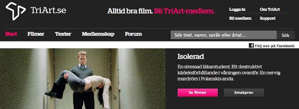 Nu finns Isolerad att hyra på www.triart.se